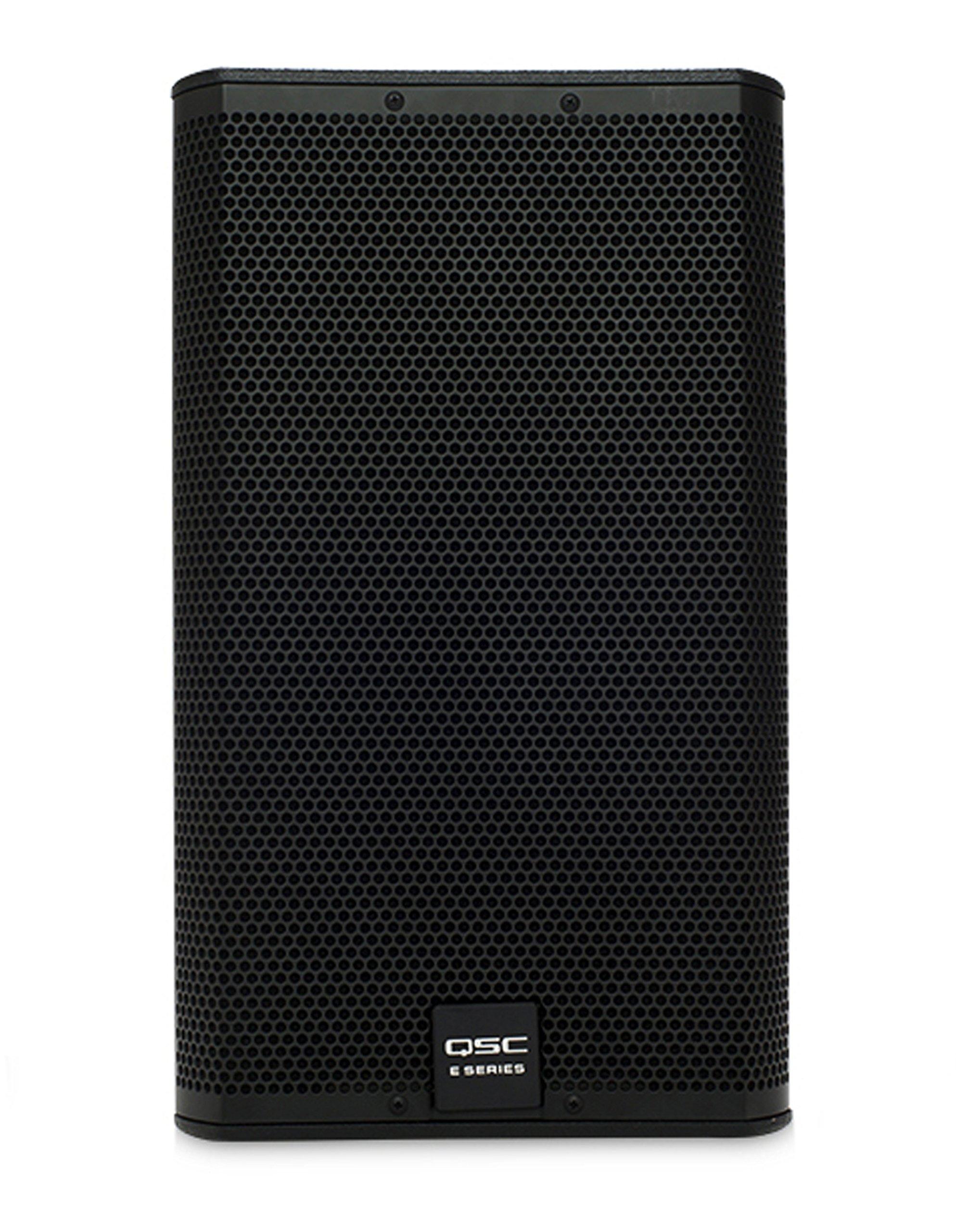QSC E12BK 400 Watt 12'' 2-Way Full-Range Passive Black Loudspeaker by QSC