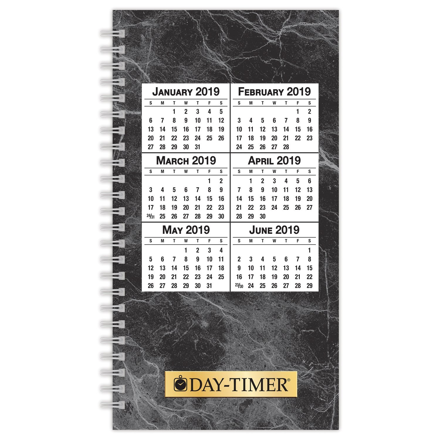 Day-Timer 2019 Weekly Planner Refill, 3-1/2'' x 6-1/2'', Pocket Size 2, Wirebound, Two Pages Per Week (87030)