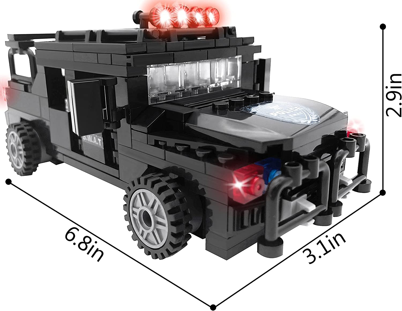 HSANHE Military Army Ploice SWAT Command Vehicle Car Blocks Mini Building Toy