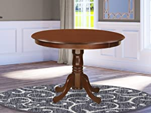"HLT-MAH-TP Table 42"" diameter Round Table -Black and Cherry"
