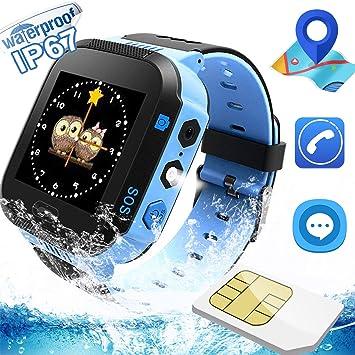 Kids Watch/Smartwatch Que Puede Hacer Llamadas telefónicas, Enviar Mensajes de Voz, Hacer Fotos, encender la Linterna-Foco y Permite Jugar a Juegos. ...