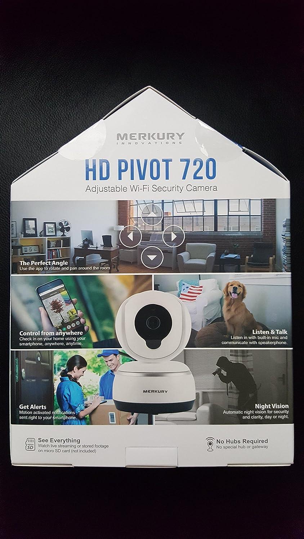 Merkury Innovations HD Pivot 720 Adjustable Wi-Fi Security Camera