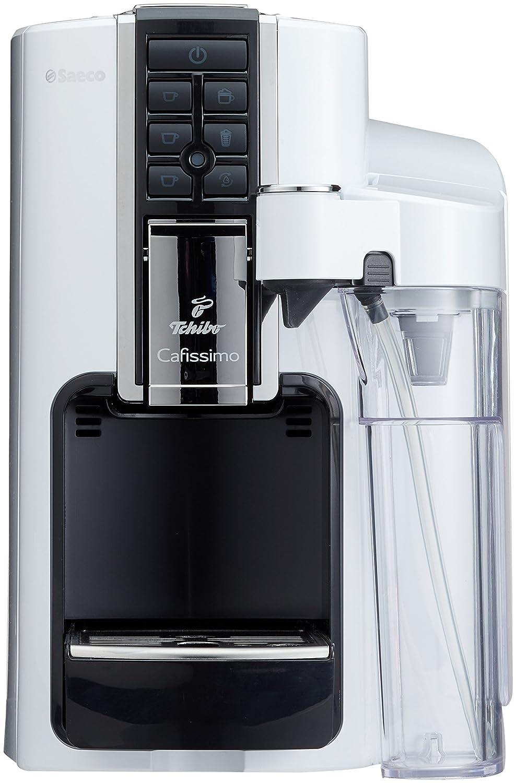2e07ca01ec3359 Tchibo Saeco Cafissimo Latte Kapselmaschine (für Kaffee, Espresso,Caffé  Crema,Latte Macchiato,Cappuccino oder Tee), weiß