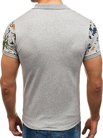 BOLF Hombre Camiseta Polo De Manga Corta Camiseta De Algodón 3C3 Motivo fqh65f