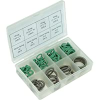AiCooler O-Ring Rubber and Garter Spring Assortment Kit Set for Ford Car Vehicle Auto A/C Repair with Holder Case 100 Pieces Variety Pack, Combination(100pc HNBR O-Ring Assortment)