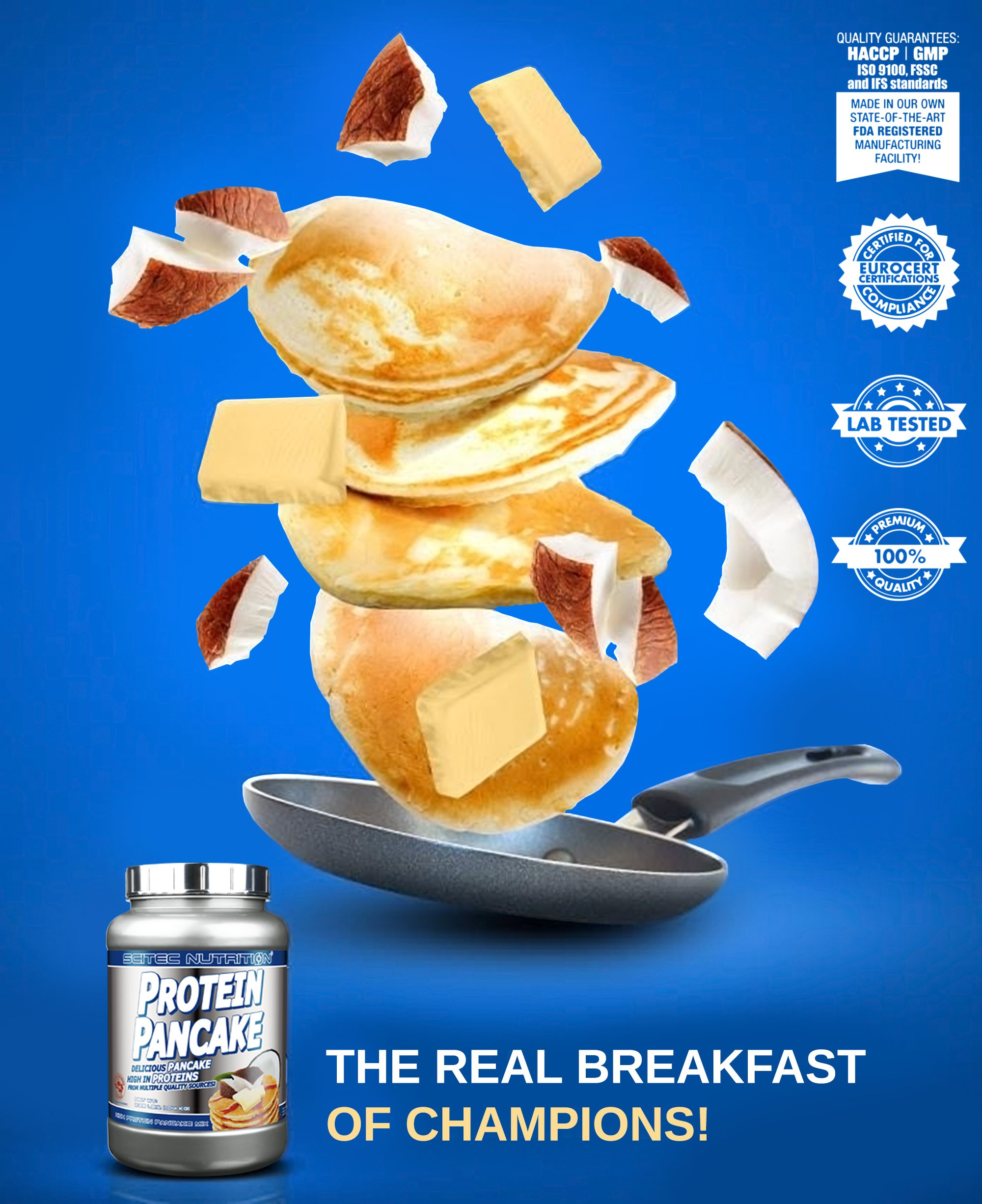 Scitec Nutrition Protein Pancake Mix - 2.28 Pound, White Chocolate Coconut by Scitec Nutrition (Image #4)