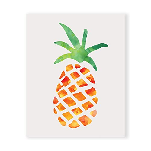 Pineapple Kitchen Decor, Pineapple Wall Decor, Southern Wall Art, Tropical  Art UNFRAMED Nice Design