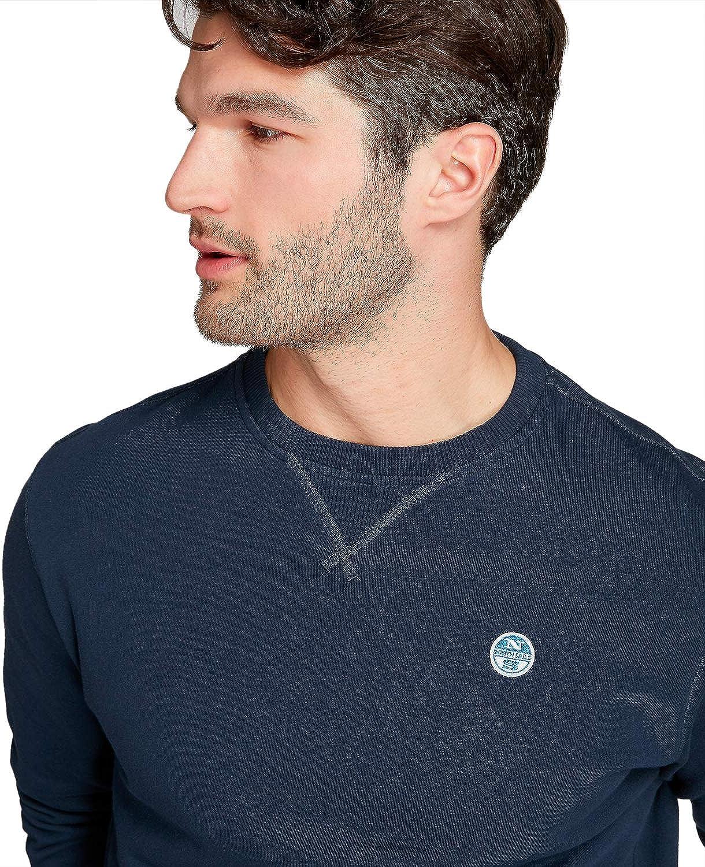 NORTH SAILS Herren Lowell Round Neck Sweater - Weich Atmungsaktiv Navy Blue 0802