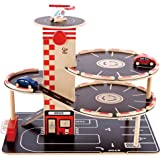 Hape Park and Go Kid's Wooden Toy Car Garage Play Set