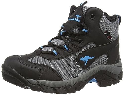 Kangaroos K-Outdoor K 2111 - Zapatillas de Trekking y Senderismo de Material sintético Niños^Niñas, Color Gris, Talla 37