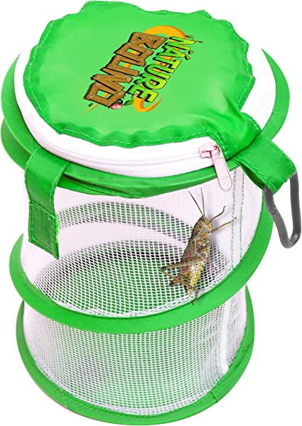 Amazon Com Nature Bound Nb528 Pop Up Critter Catcher Habitat Kit With Carabiner Clip Zipper Lid One Size Green Toys Games