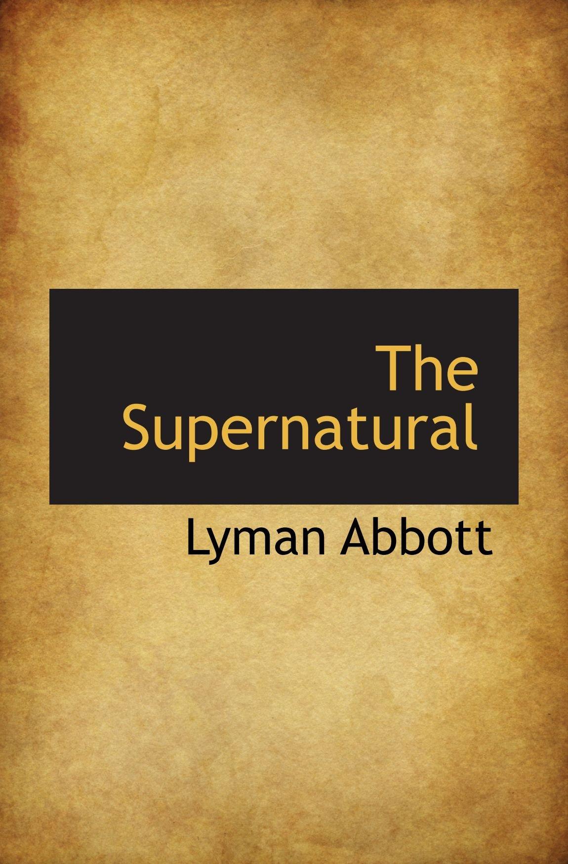 Read Online The Supernatural PDF