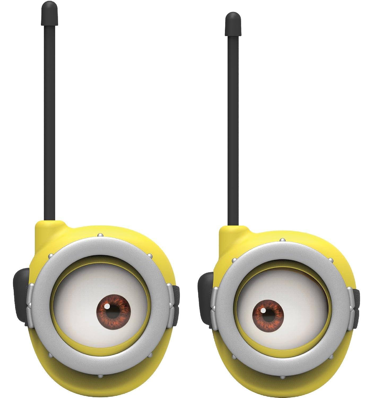 Minions Walkie Talkies for Kids Static Free Extended Range Kid Friendly Easy to Use 2 Way Walkie Talkies KIDdesigns Inc MS-202MM.EX