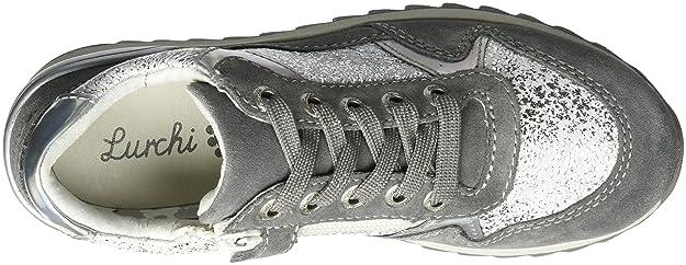 Lurchi 33-15810 - Zapatillas de Piel Niñas, Color Gris, Talla 33 EU
