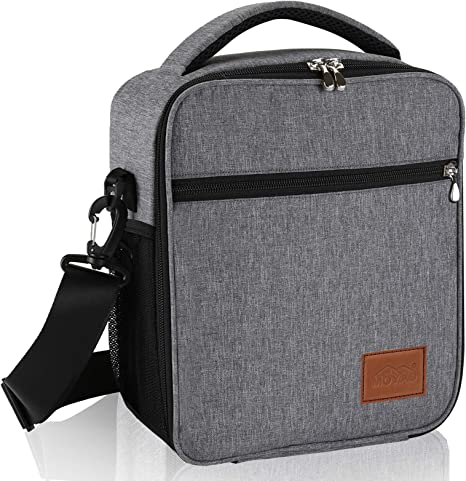Light Gray LunchBag insulated bag for lunch Business Lunch Bag Made to go Take to work Carry food with you Work lunchbag Office lunchbag Eco