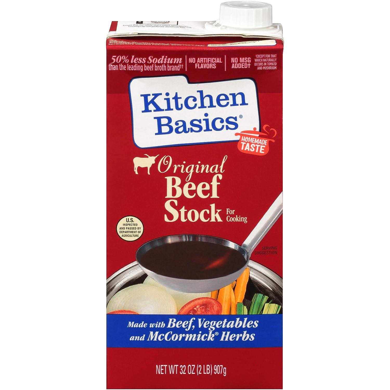 Kitchen Basics All Natural Original Beef Stock, 32 fl oz (Pack of 12)