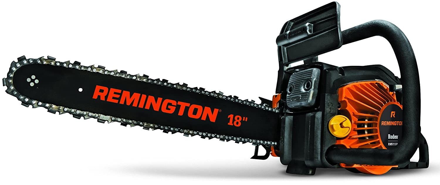 Amazon remington rm5118r rodeo 51cc 2 cycle 18 inch gas amazon remington rm5118r rodeo 51cc 2 cycle 18 inch gas chainsaw power chain saws garden outdoor greentooth Gallery