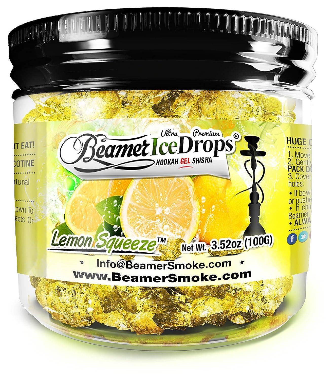 Amazon.com: Lemon Squeeze 50G Ultra Premium Beamer Ice Drops ¨ Hookah Shisha Smoking Gel. Each bowl lasts 2-4 Hours! USA Made, Huge Clouds, Amazing Taste!