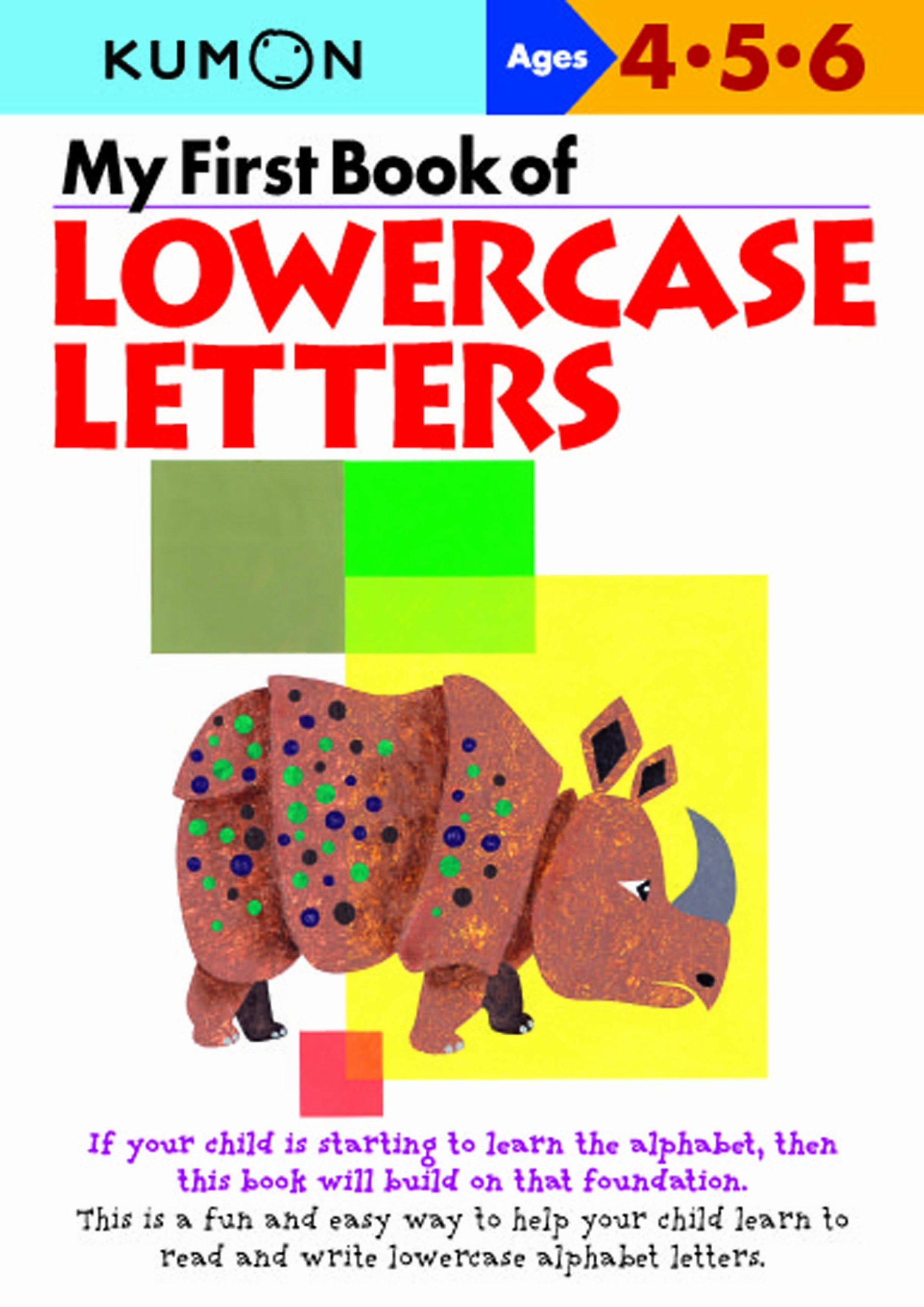 my first book of lowercase letters kumon 0004774307068 amazon