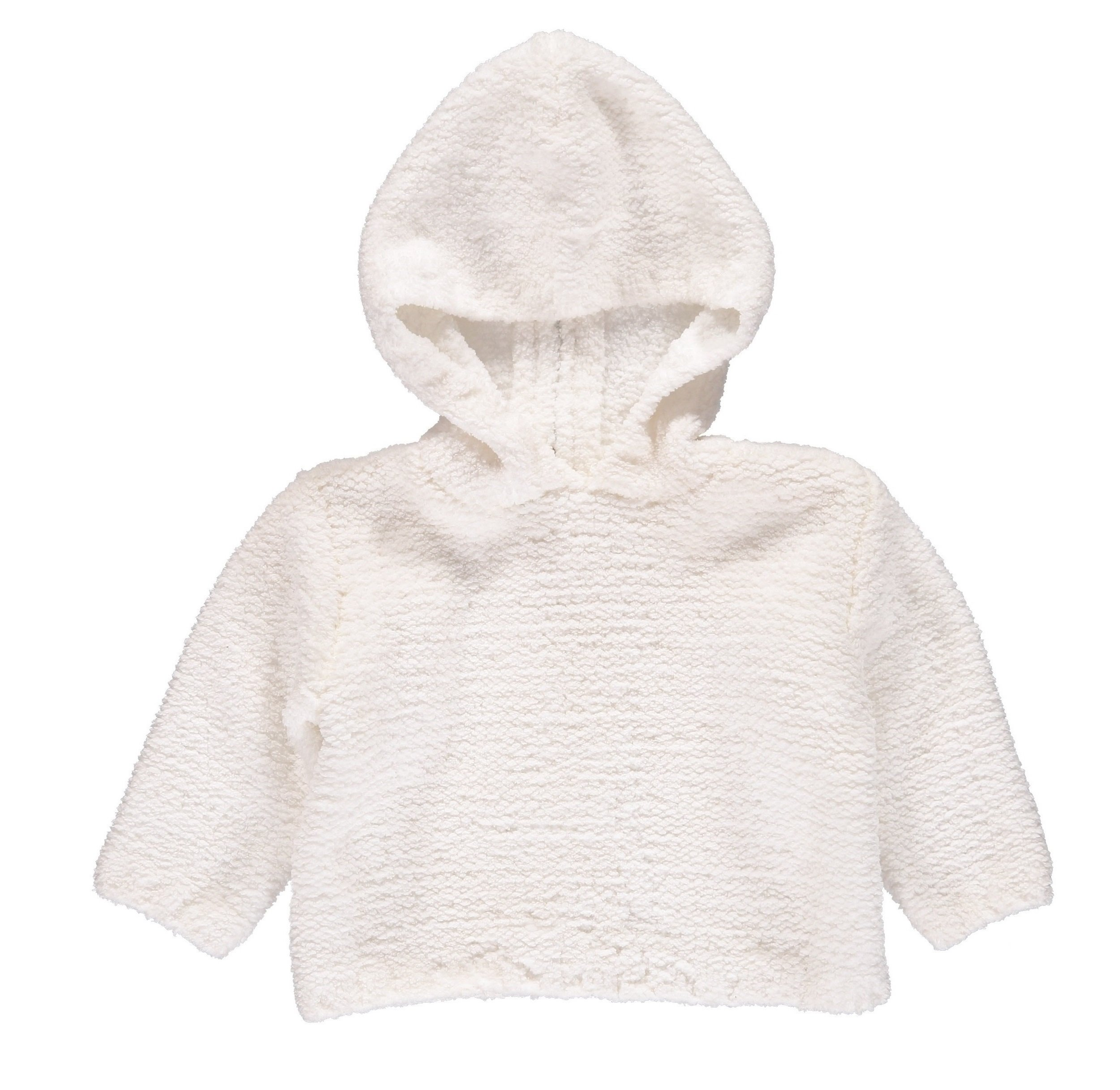 Carriage Boutique Baby Sweaters White Zip Back Chenille Long Sleeve Fall/Winter Pullovers by Carriage Boutique