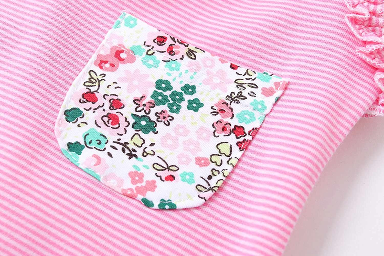Pink, 12-18 Months ZHUANNIAN Baby Toddler Girls 2 Piece Shorts Sets Cotton Tank Tops Summer Outifts