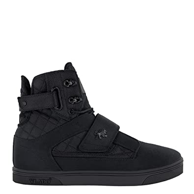 70d5f52a725d VLADO Footwear Men s Atlas II Black Mono High Top Sneaker ...