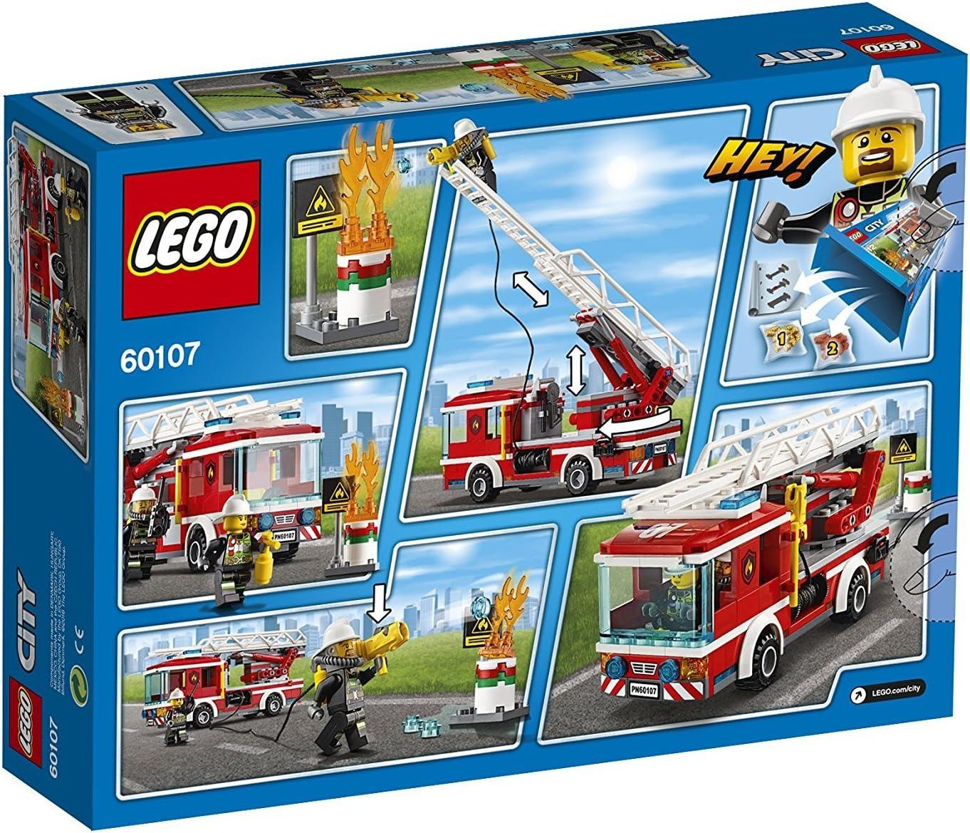 Lego City 60107 – Camión de bomberos con escalera + Lego Juniors 30338 – Coche de bomberos, Cooles juguete para niños: Amazon.es: Juguetes y juegos