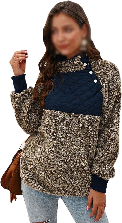Chenlao7gou621 2020 Moda Mujer SuéTer De OtoñO/Invierno Abrigo SuéTer con Costuras En Contraste