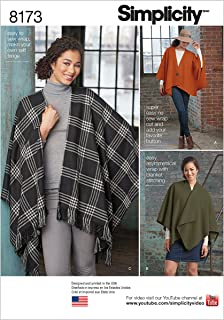 product image for Simplicity 8173 Fleece Poncho Sewing Pattern for Women, One Size