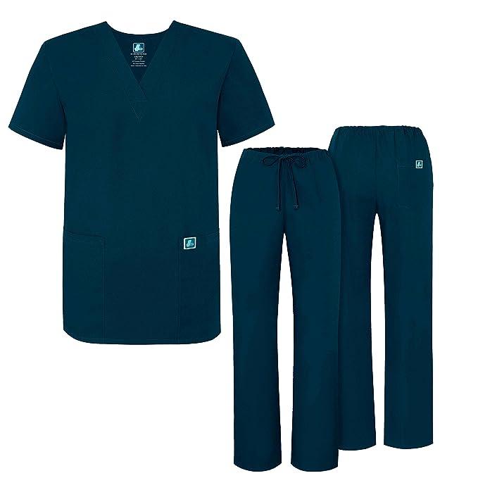 Adar Uniforms Uniforme Médico Unisex con Casaca y Pantalones - 701 Color CBB | Talla: