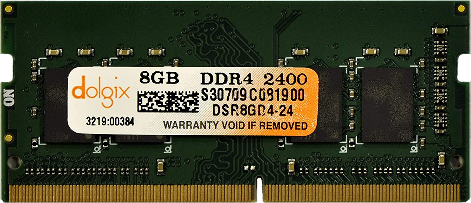 DOLGIX 8GB DDR4 PC4-19200 2400MHz Laptop 260Pins 1.2V Memory Ram Module Upgrade