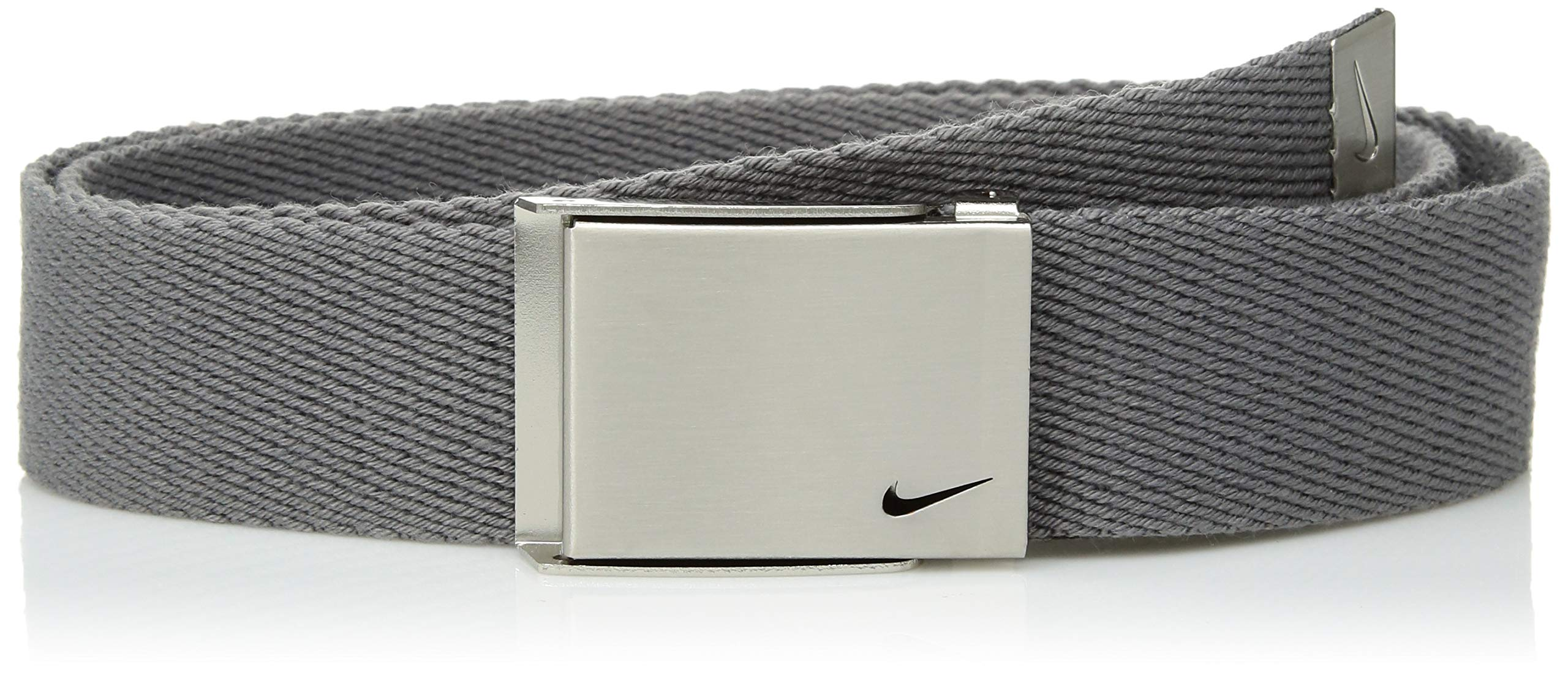 Nike Big Boys' Single Web Belt, Light Charcoal, One Size