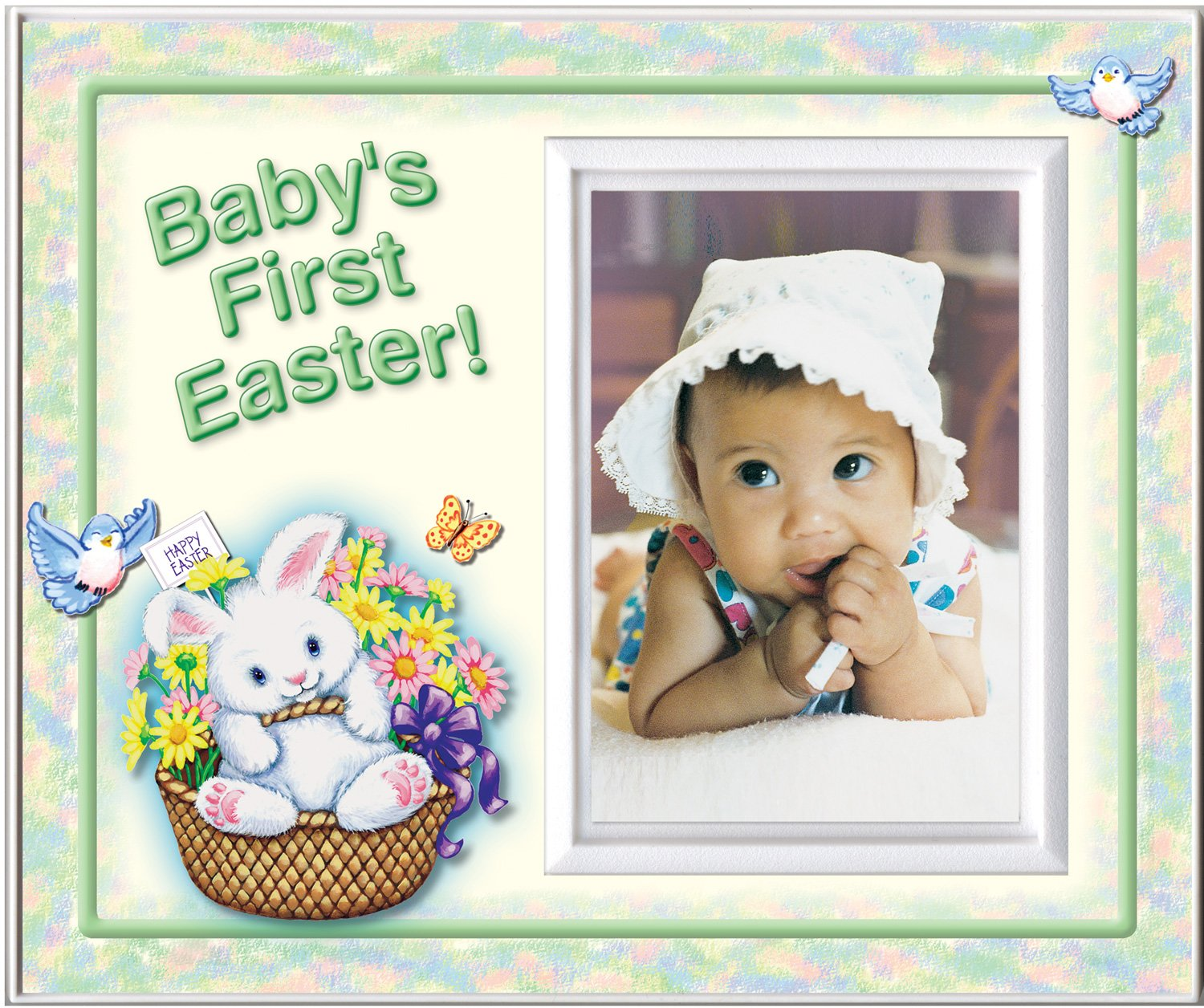 New Baby Gift Baby/'s First Easter Frame Baby Easter Picture Frame Personalized Picture Frames Baby Easter Gift Easter Frame