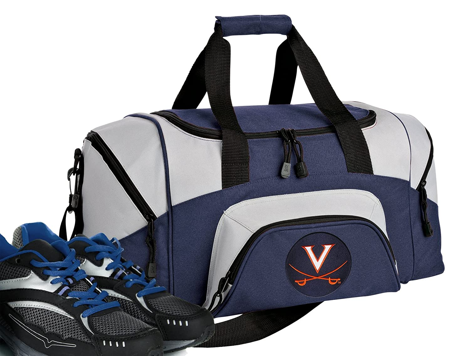 Amazon.com   Broad Bay Small University of Virginia Gym Bag Deluxe UVA  Travel Duffel Bag   Sports   Outdoors 3a6a15a1f2a60
