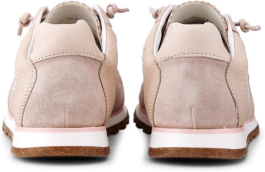 Cox Damen Damen Fashion Sneaker, rosa Rauleder