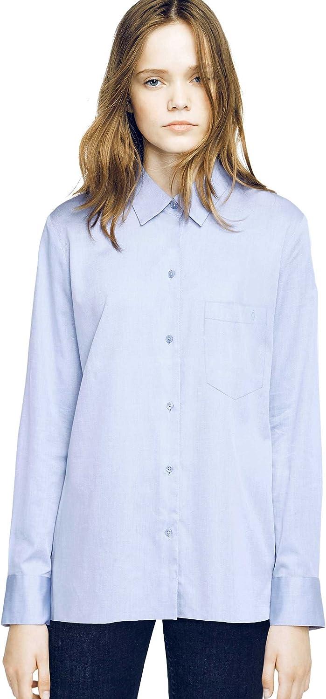 Caramelo, Camisa Bolsillo Oxford Azul, Mujer · Azul Celeste, Talla XXS: Amazon.es: Ropa y accesorios