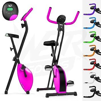 We R Sports Folding X-Bike - Elíptica de fitness (plegable, magnético), color rosa