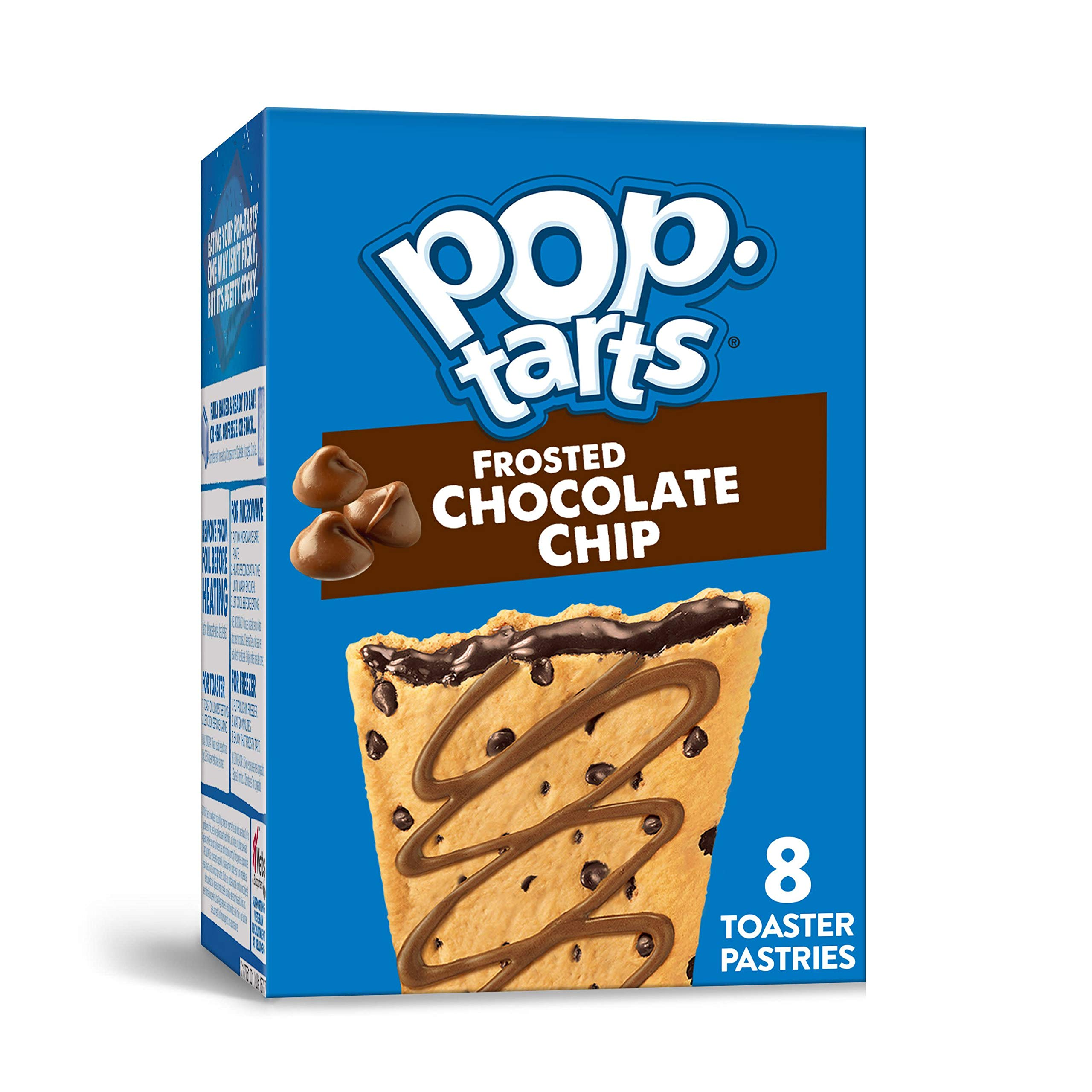 Pop-Tarts, Breakfast Toaster Pastries, Frosted Chocolate Chip, Proudly Baked in the USA, 13.5oz Box (4 Count)