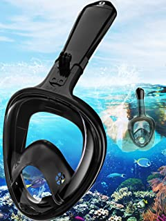 Full Face Snorkel Mask Easybreath Foldable Scuba Diving Mask Seaview 180 Panoramic Goggles Anti-leak