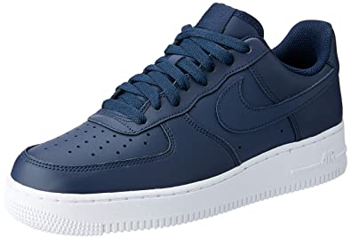 new concept 3c034 26424 Nike Men s Air Force 1  07 Trainers, Blue (Obsidian Obsidian-White