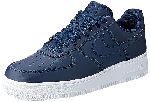 buy online 04b93 8e968 Nike Air Force 1 07, Scarpe da Ginnastica Uomo, Grigio (Obsidian Obsidian