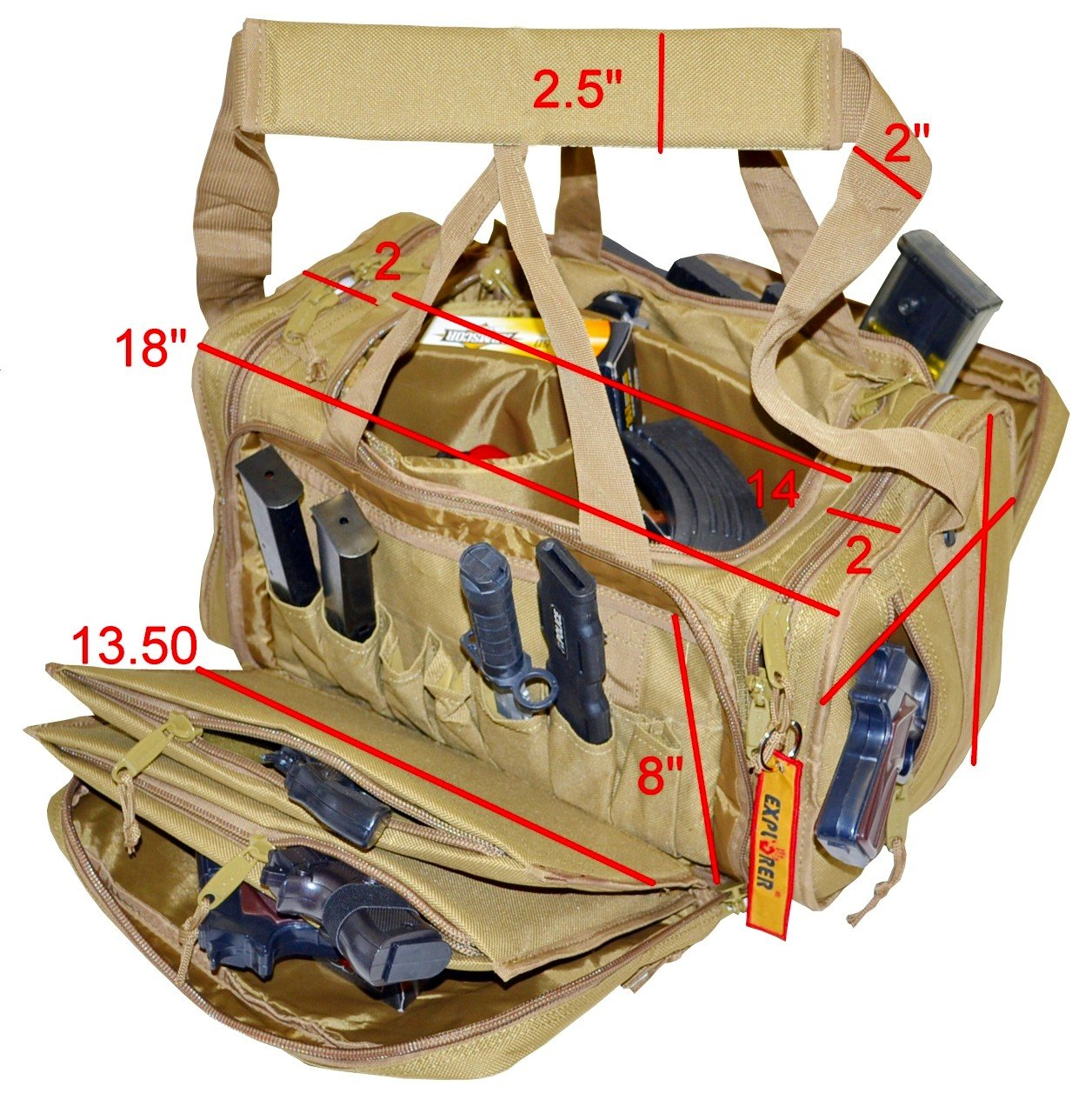 5. EXPLORER Tactical Range Ready Bag 18-Inch