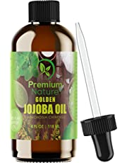 Jojoba Oil Pure Cold Pressed - Unrefined Natural Carrier Oil For Essential Oils Mixing, Facial Moisturizer & Cleaner, Nail & Hair Growth, Massage Body Cleansing Hohoba Skin & Face Oil for Women & Men