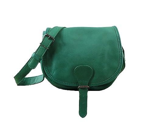 LE BOHEMIEN Emerald Green leather shoulder bag bohemian style adjustable  strap PAUL MARIUS 962ca951e9277
