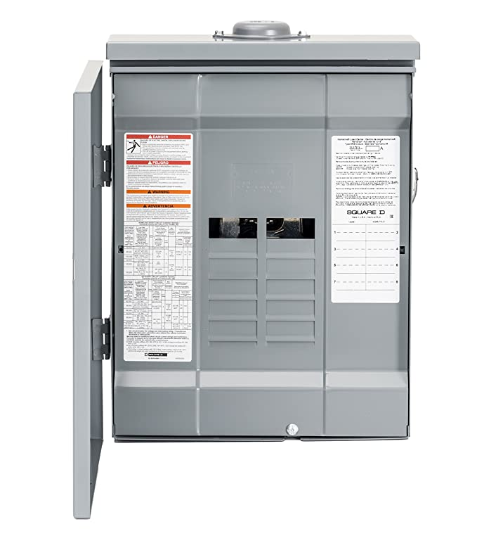 Square D by Schneider Electric HOM816L125PRB 125 Amp 8-Space 16-Circuit Outdoor Main Lugs Load Center