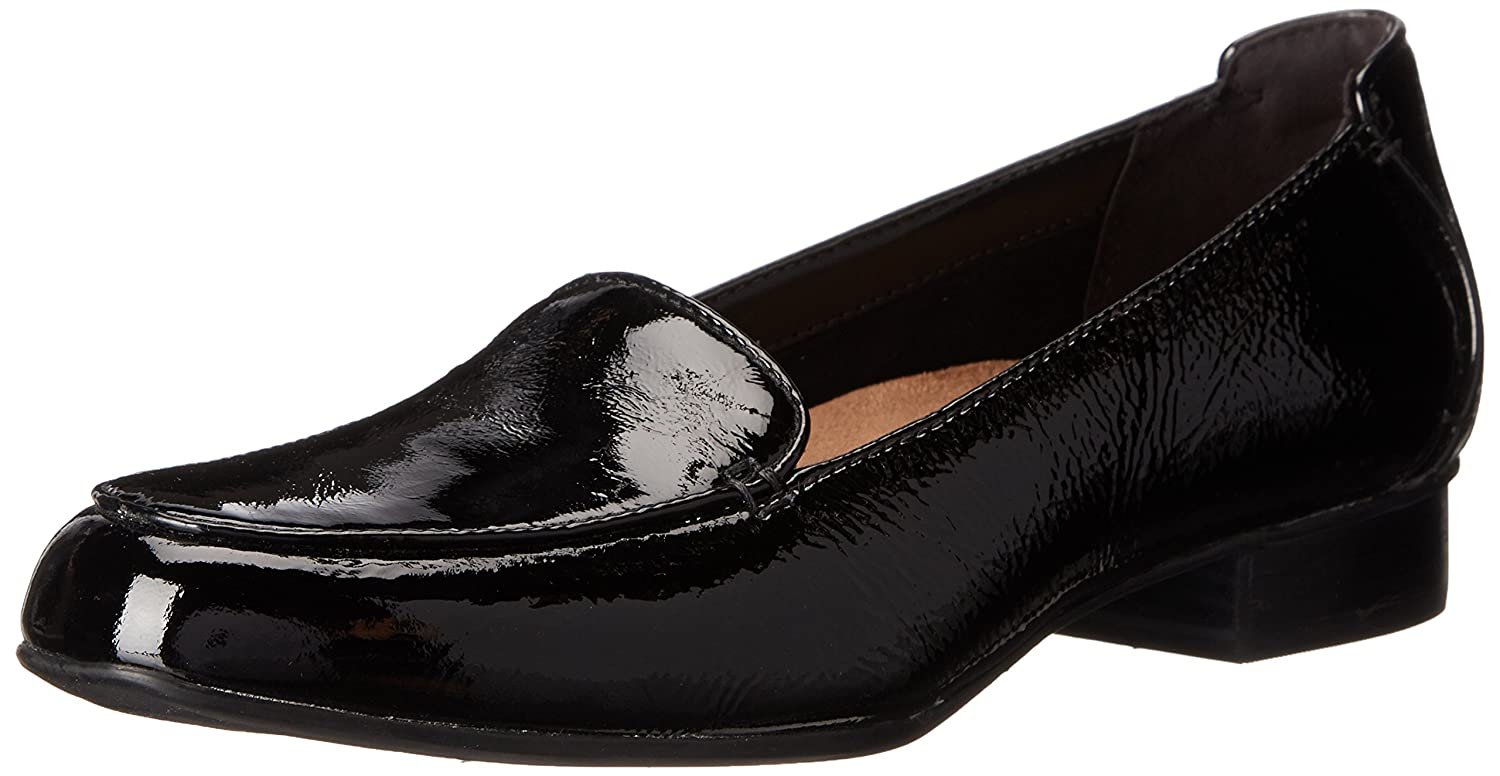 CLARKS Women's Keesha Luca Slip-On Loafer B00T3IQIB0 7.5 N US|Black Patent Leather