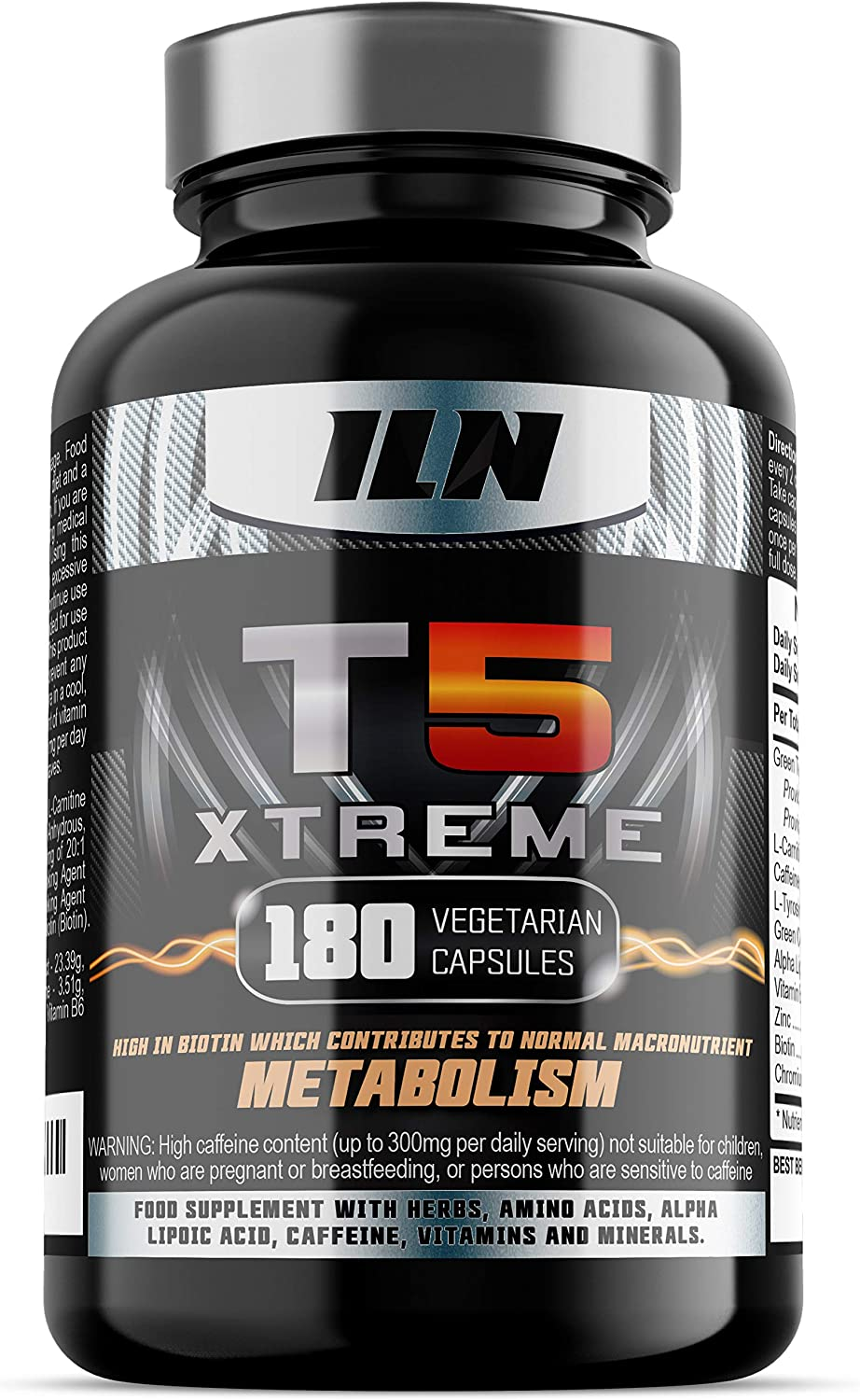 T5 Xtreme for Men and Women - HIGH in CHROMIUM which contributes to normal  macronutrient METABOLISM & the maintenance of normal BLOOD GLUCOSE LEVELS -  180 Vegetarian Capsules: Amazon.co.uk: Health & Personal
