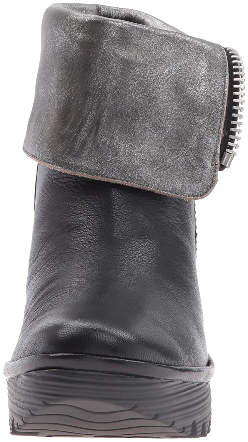 FLY London Women's Yex668fly EU/7.5-8 Ankle Bootie B01CR1L3KU 38 EU/7.5-8 Yex668fly M US|Black/Ant Silver Mousse/Bardana a77818
