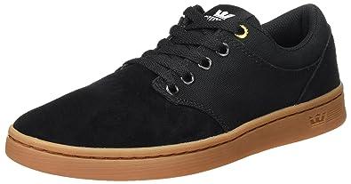 Herren Chino Court Sneaker, Schwarz (Black-Gum), 42 EU Supra