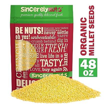 Semillas de mijo orgánicas Sincerely Nuts – Sabor apetitoso ...